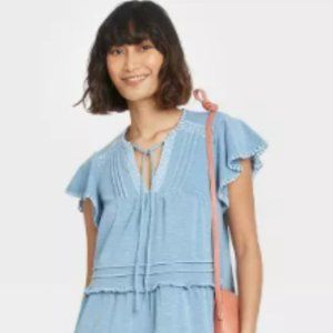 🐘Flutter Sleeve Knit Tiered Dress Knox Rose🐘